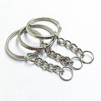 Горячий металл Сплит брелок кольцо частей - брелки с прыжок кольцо и разъем продвижение