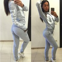 2017 Autumn Winter Fashion 2 Piece Set Tracksuit For Women P...