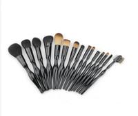 Alta Qualidade Mulheres 15 pcs Jogo de Pincel de Maquiagem Ferramentas de Maquiagem Kit de Higiene De Lã Make Up Cosméticos Jogo de Escova Ferramentas