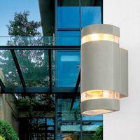 50 قطع 8 واط gu10 الإضاءة جدار حزمة الحديثة أدى الجدار مصباح أضواء الشرفة للماء صعودا وهبوطا أدى ضوء الجدار الشمعدان الخارجي