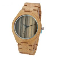 Nature Wood Watch Fashion Men' s Wrist Watch Modern Bamb...