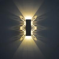 Lampes murales fixant la lampe LED de haut en bas 2W papillon moderne Northern Europe Mode Simplicity Light Indoor B1745