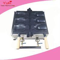 Commercial 3PCS газовая рыба вафельщик открытый рот Корейский рыбный вафля машина тайяки машина мороженое рыба формы вафель пекарь