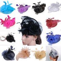Los sombreros de Fascinator de la pluma colorida más caliente moderna para el banquete de boda de la tarde del baile de fin de curso 2017 señoras populares de la venda