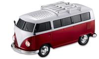regalo de Navidad WS-266 colorido mini forma del coche del altavoz mini bus sonido del altavoz MP3 de la caja del disco de U ++ + TF + función de FM