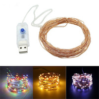 8 Modes USB powered 10M 33ft 100 led string lights outdoor c...