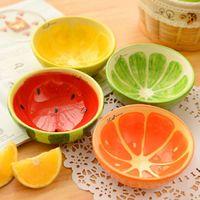 Stoviglie creative 4pcs / lot SH649 della muffa del budino della muffa del budino dei bambini di colore delle ciotole ceramiche adorabili di progettazione della frutta