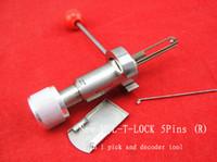 عالية الجودة MUL-T-LOCK (5 PIN اليمين) 2 في 1 قفال المهنية أداة قفل اختيار مجموعة الفولاذ المقاوم للصدأ الفضي