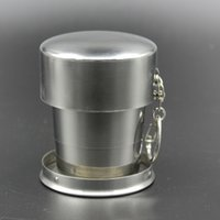 Folding cup Stainless Steel Camping Folding Cup Mug Travelin...
