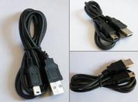 200pcs / lot universal USB 2.0 A a B macho Cable de datos Mini 5 PIN USB para PS3 la cámara PSP MP3 MP4 OD3.5 cobre / 100cm CJS