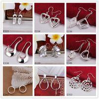 High Grad Großhandel Mode Sterling Silber Baumeln Kronleuchter Ohrringe Ankunft 9 Paare Diffrent Style Damen 925 Silber Ohrring GTE33