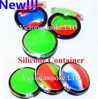 Venta caliente Maquillaje envases de silicona Caja Forma Cera Envases caja de silicona 6ml Envase de silicona tarros de cera de calidad alimentaria envase de silicona dab