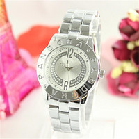 Big letter O style Clock dial casual women quartz Watches St...