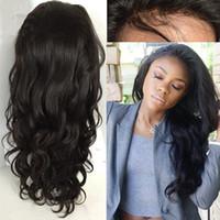Parrucche brasiliane di pizzo per capelli umani Parrucche piene di pizzo Glueless parrucche piene con base in seta 4x4 con capelli per bambini per donne nere
