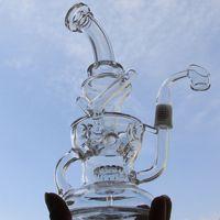 FTK perfecto vórtice fabul huevo bong reciclador vidrio plataformas de aceite concentrado de vidrio dabbers dabbers cuarzo banger uñas vidrio bongs 14mm articulación