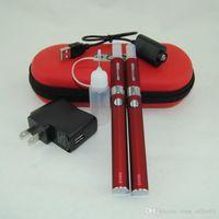 Evod mt3 cigarrillo electrónico eGo kit de inicio doble MT3 vaporizador atomizador Clearomizer tanque vape pen evod batería doble cremallera kits de caso de DHL