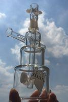 Mini Dab Rigs coloré en verre épais Bong Hitman anniversaire plate-forme pétrolière gâteau concentré verre de vapeur de conduites d'eau de 14mm Joint 7.3 « »