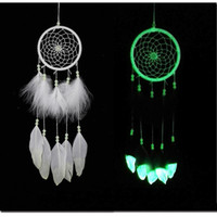 India Fluorescence Dreamcatcher with Feathers Noctilucous Wi...
