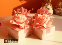 Europe Style Romatic Flower Wedding Favor Candy Boxes Weddin...