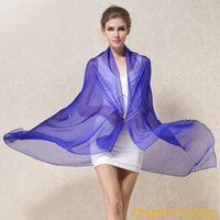 100% Natural Silk Scarves Pure Color Real Silk Scarf Shawl F...