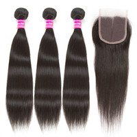 brazilian virgin hair 3 bundles wefts with closure body wave...