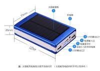 새로운 15000mAh 방수 태양 전원 은행 듀얼 USB 외부 배터리 태양열 충전기 아이폰을위한 PowerBank Samsung Xiaomi HTC
