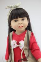 18 pouces fille poupées américaines en silicone en silicone de vinyle complet réel réel bébé jouet fini poupée doll noël cadeau de Noël