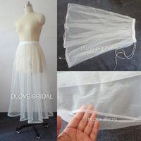 Foto reale Alta qualità Bridal Dress Abito da sposa Petticoat One Layer Tulle Gonna Swearskirt Salvarti dal water Acqua Raccogliere accessorio di nozze