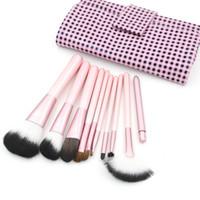 Rosa Make-up Pinsel Nylon Make-up Pinsel Kosmetik Pinsel 13 Sätze / Los Gesicht Pinsel Make-up Pinsel Kit