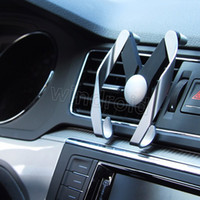 Tipo M ajustable de forma móvil del sostenedor del coche universal del teléfono móvil montaje de la salida de aire del sostenedor del soporte del teléfono para el iPhone X con el paquete al por menor DHL