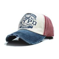 Wholesale-6 Farben Baumwolle Vintage Snapback Cap verstellbaren Hut Unisex Baseball Cap Großhandel Unterstützung