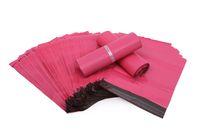 100pcs / lot Pink Poly Mailer 10 * 13 pouces Sac Express 25 * 35cm Sacs de courrier Enveloppe / Joint auto-adhésif Sac de sacs en plastique
