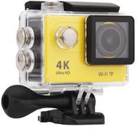Ultra 4 k Spor Eylem Kamera Uzaktan Kumanda Ile Wifi HD H9 1080 p Su Geçirmez Mini Video Kayıt Dalış Yürüyüş için Spor Kamera
