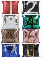 Sequin PillowCase Sequins Cushions Cover Reversible Pillow C...