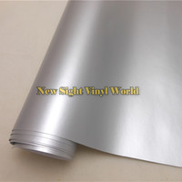 High Quality Matte Satin Chrome Metallic Silver Vinyl Folie Wrapping Film Bubble Free For Car Styling