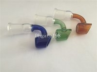 50pcs / lot pas cher coloré 14mm 18mm verre fumer bol profond femme mâle conduites d'eau bong pour tabac en verre pipe à eau en verre mâle / femelle joint