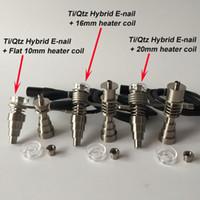 DHL libera il commercio all'ingrosso Brand new aggiornamento altamente istruzione titanio / quarzo ibrido nails fit flat 10mm / 16mm / 20mm riscaldatori a spirale in magazzino