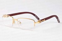 новые моды спортивные солнцезащитные очки для мужчин 2020 рог буйвола очки золото и серебро половины кадра кадр очки многоцветные деревянные очковых Gafas