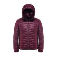 2017 nueva marca casual blanco pato de pato abajo hombres otoño invierno abrigo cálido hombre ultraligero pato chaqueta masculina a prueba de viento Parka