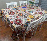 Европейская хлопчатобумажная льняная Средиземноморский стиль квадратные скатерти подсолнечника чехлы настольные настольные ткани для свадебной столовой ткани