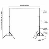 6.5x6.5ft 고품질 배경 지원 시스템 사진 스튜디오와 함께 스탠드 조정 가능한 크로스바 포토 스튜디오 프레임 + 캐리 백