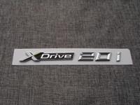 Krom XDrive 20i Mektuplar Numarası Gövde Amblemler Rozetleri Sticker için BMW XDrive 20i