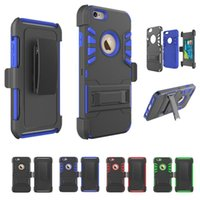 Hybrid Armor Cases For iPhone 7 Shockproof Belt Clip Kicksta...