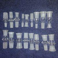 20 estilo Glass Bong Pipe Adaptador 10mm 14mm 18mm Adaptador de Vidrio Conjunta hembra macho 10.0mm 14.4mm 18.8mm Adaptador de Vidrio