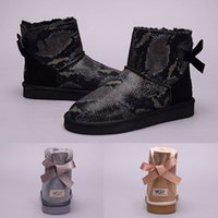Hot sale WGG Women Australia Classic Ankle boots black silve...