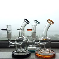 "6"" glass oil rigs bong water pipe 5mm thick dab rig hig..."