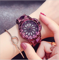 Fashion Women Watch Stainless Steel Watches Lady Shining Rot...