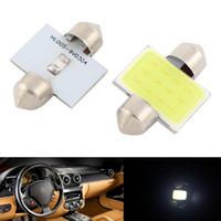 10pcs blanca 31mm 12SMD LED COB DE3175 Bombillas para el coche de bóveda interior luces de mapa