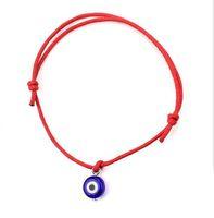 التركية لاكي الشر العين أساور اليدوية مزين حبل محظوظ المجوهرات سوار أحمر