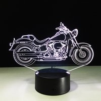 2017 Brand New Motorbike 3D Illusion Night Lamp 3D Optical L...